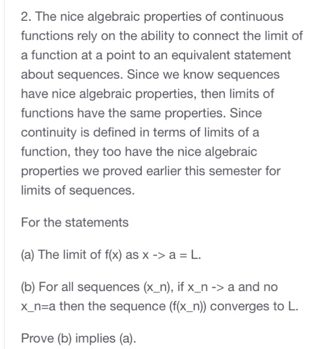 Advanced math archive november 28 2017 chegg the nice algebraic properties of continuous functions rely on the ability to connect the fandeluxe Gallery