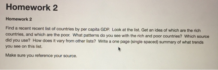 Homework Homework Find A Recent Recent List Of Cheggcom - Rich and poor countries list