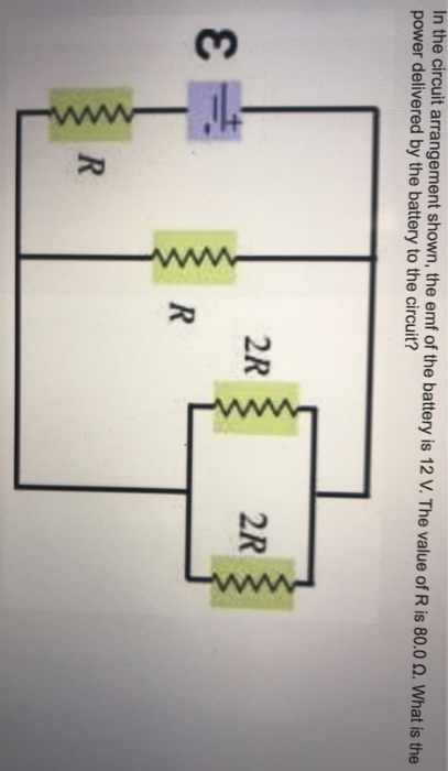 Solved: In The Circuit Arrangement Shown, The Emf Of The B ...