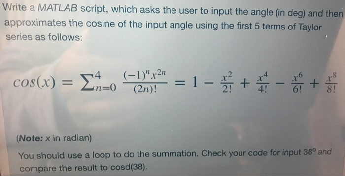 Mechanical engineering archive april 03 2018 chegg write a matlab script which asks the user to input the angle in deg fandeluxe Choice Image