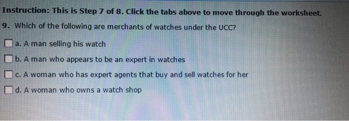 Instruction: This Is Step 7 Of 8. Click The Tabs A... | Chegg.com