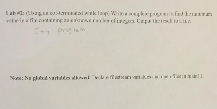 how to create a eof loop in c