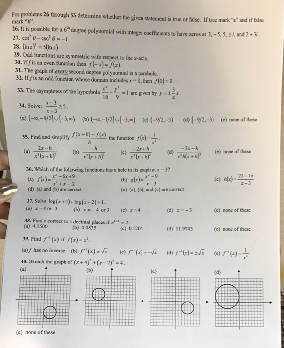 Solved: For Problems 26 Through 33 Determine Whether The G...