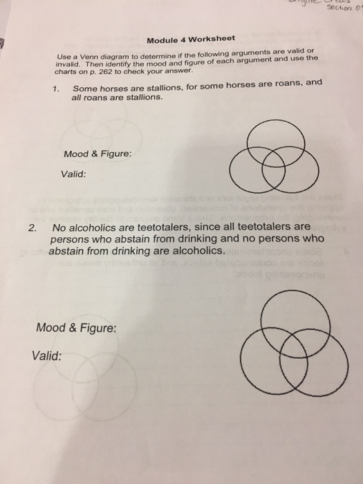 solved  use a venn diagram to determine if the following a