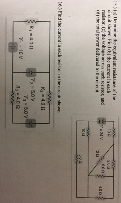 how to find the equivalent resistance of a circuit