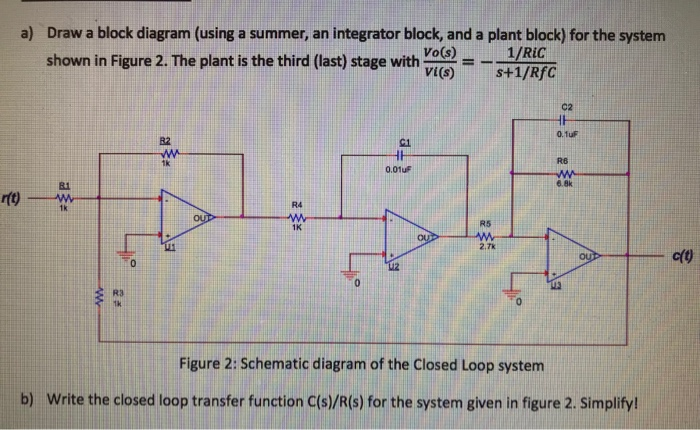 Solved draw a block diagram using a summer an integrato