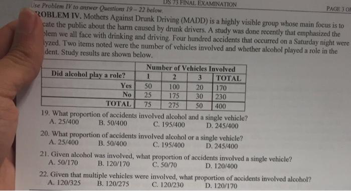 alcohol problem questions