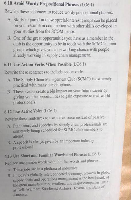 solved  6 10 avoid wordy prepositional phrases  l06 1  rew