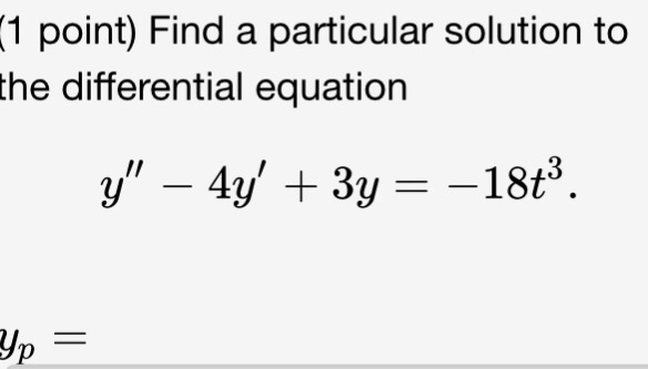 particular solution of differential equation pdf