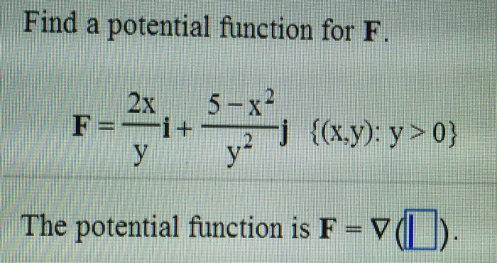 how to find scalar potential function