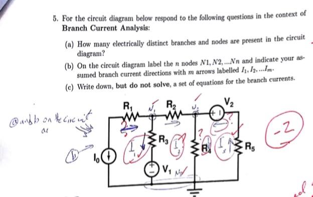 block diagram analysis circuit diagram analysis solved: . for the circuit diagram below respond to the fol ...