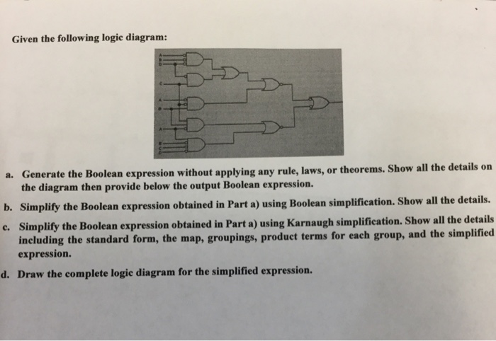 Given the following logic diagram a generate the chegg given the following logic diagram a generate the boolean expression without applying any rule ccuart Gallery