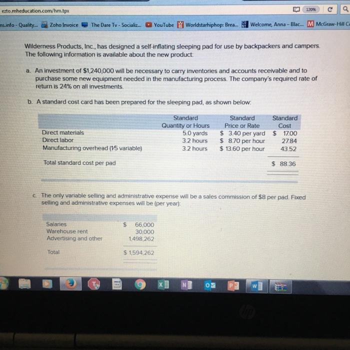 Ezto.mheducation.com/hm.tpx Ms Info Quality.. Zoho... | Chegg.com