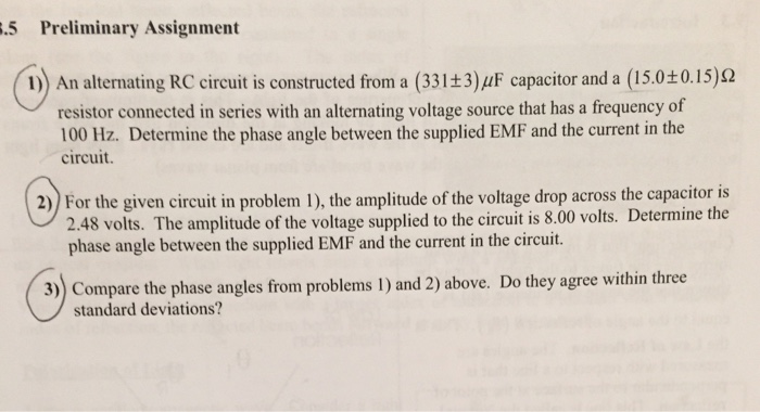 Rc circuit problems homework help