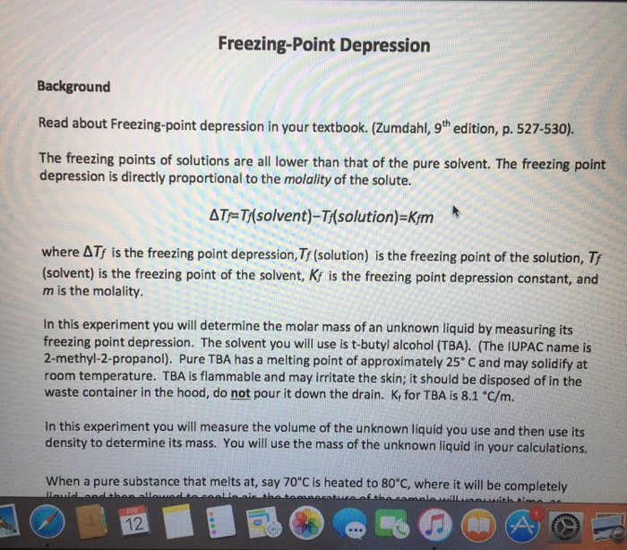 Chemistry archive february 12 2017 chegg freezing point depression background read about freezing point depression in your textbook fandeluxe Choice Image