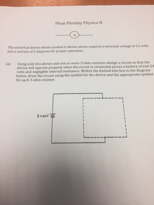 Solved The Electrical Device Whose Symbol Is Shown Above