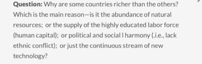 why are some countries richer than Learn about and revise contrasts in development and why some countries are richer than others with gcse bitesize geography (ocr.