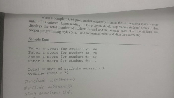 Write a complete program that