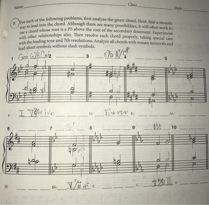 What Are The Tonal Harmony Answers For 16-2: B (Ch ...