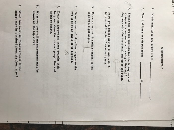Drawing Lines Worksheet : Solved it u worksheet horizontal lines are d
