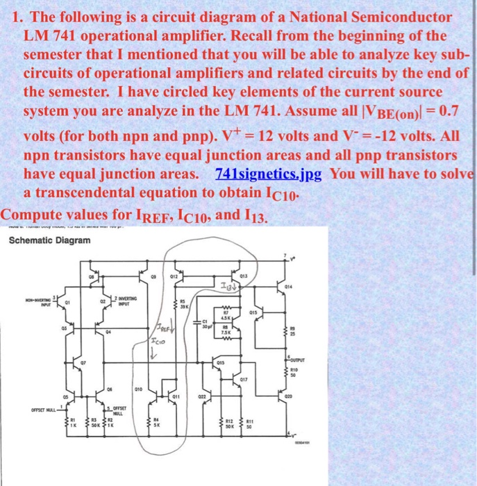 Solved: The Following Is A Circuit Diagram Of A National S ...
