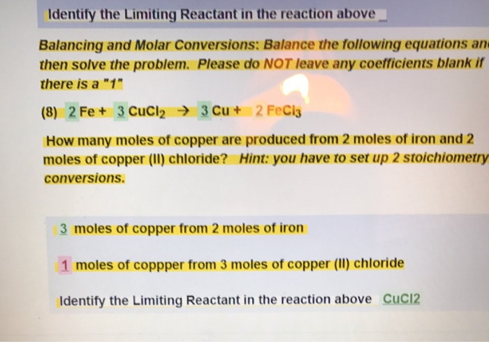 how to find the limiting reactant in a balanced equation