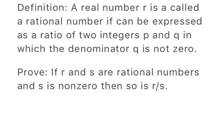 Definition: A Real Number R Is A Called A Rational Number If Can Be  Expressed