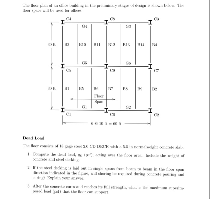 Solved: The Floor Plan Of An Office Building In The Prelim ...
