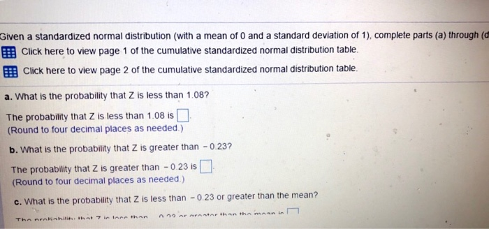 how to find probability with mean and standard deviation given