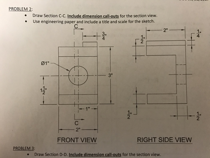 how to draw a section view
