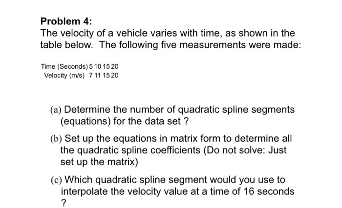 Mechanical engineering archive march 23 2018 chegg problem 4 the velocity of a vehicle varies with time as shown in the fandeluxe Choice Image