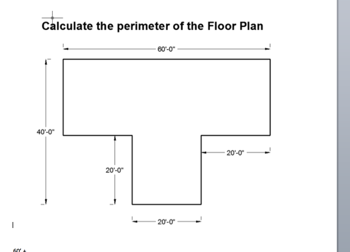 Calculate The Perimeter Of The Floor Plan