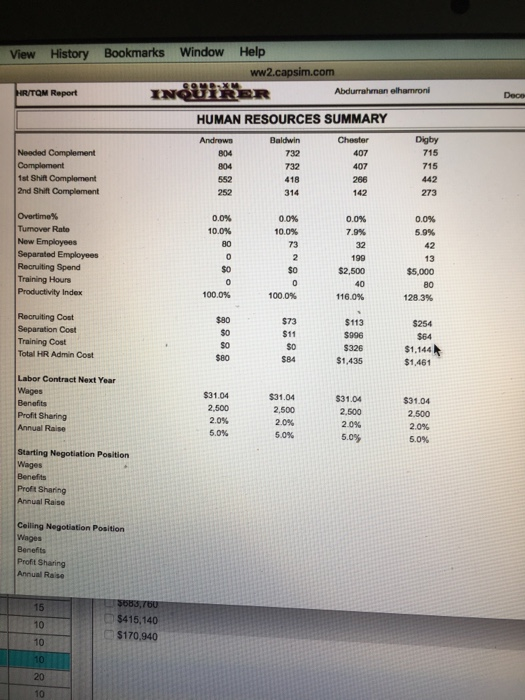 Capsim human resources - College paper Sample