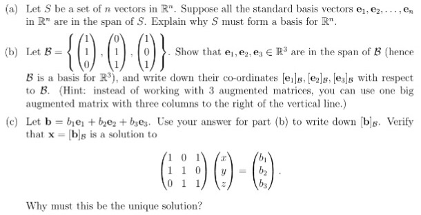 how to find if three vectors span r3