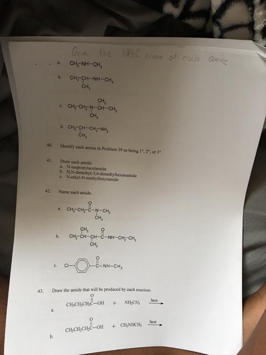 N,n Dimethylhexanamide Solved: Identif...