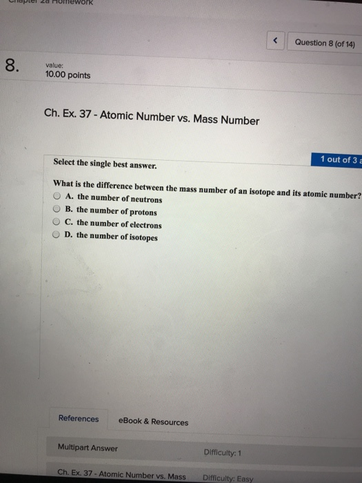 Chemistry archive march 14 2018 chegg er 2a homework question 2 of 14 value 1000 points ch ex 20 determining mass composition question be sure to answer all parts fandeluxe Choice Image
