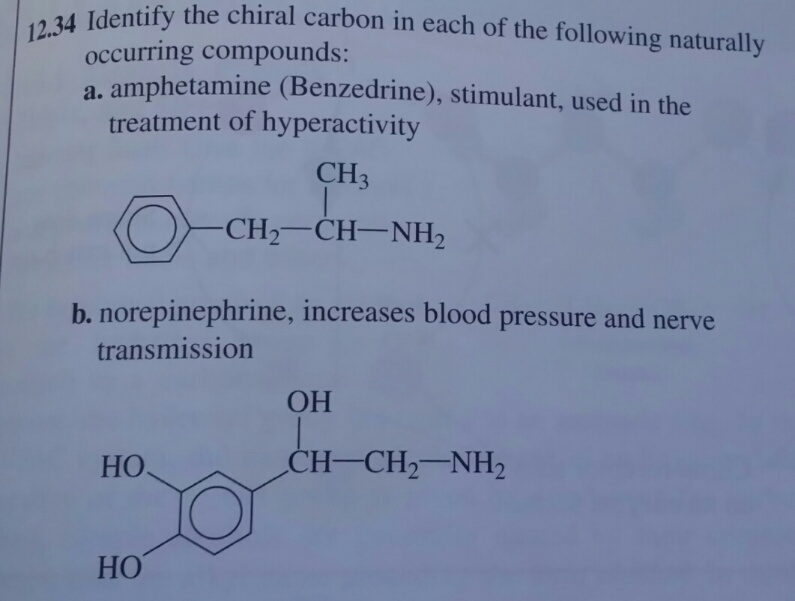 Cheap Textbooks Online >> Identify The Chiral Carbon In Each Of The Following ... | Chegg.com