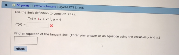 Calculus archive october 20 2017 chegg 15 01 points i previous answers rogacalcet3 31036 use the limit fandeluxe Gallery