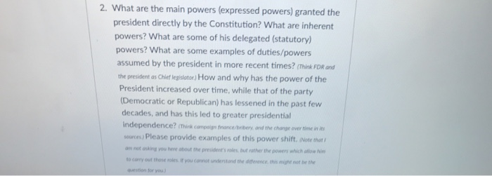 2 What Are The Main Powers Expressed Powers Gra Chegg
