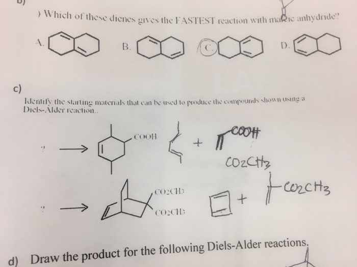 Solved Which Of These Dienes Gives The Fastest Reaction W border=