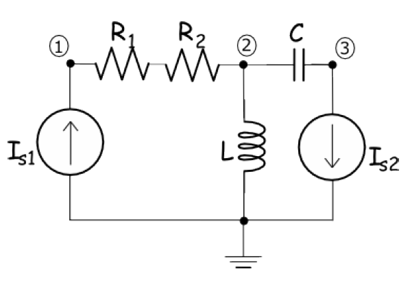 apply nodal analysis to the circuit above  use