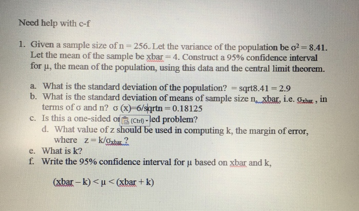 how to go from sample variance to population variance
