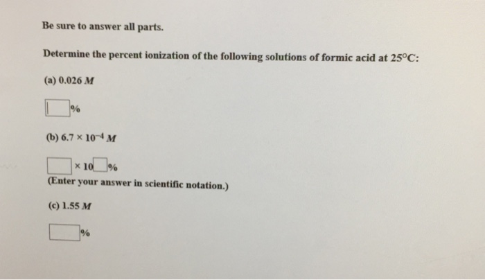 how to find percent ionization of an acid