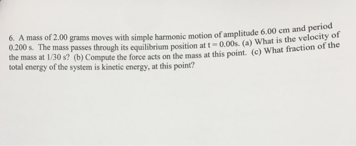 how to find amplitude harmonic motion