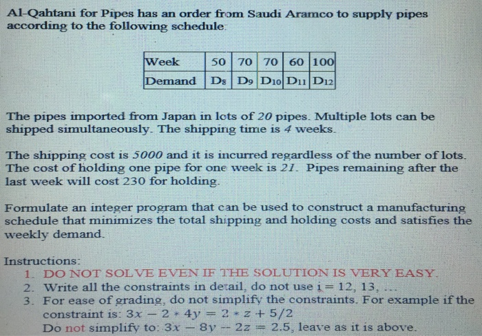 Al Qahtani For Pipes Has An Order From Saudi Aramco To Supply According