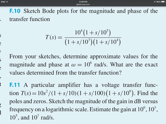 how to draw bode plot from transfer function