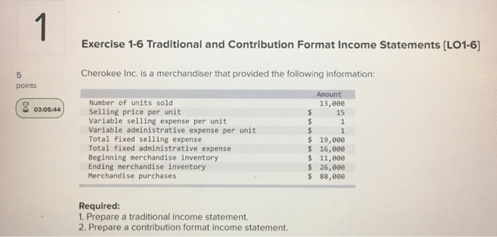 Traditional Income Statements Traditional Income Statements Measure
