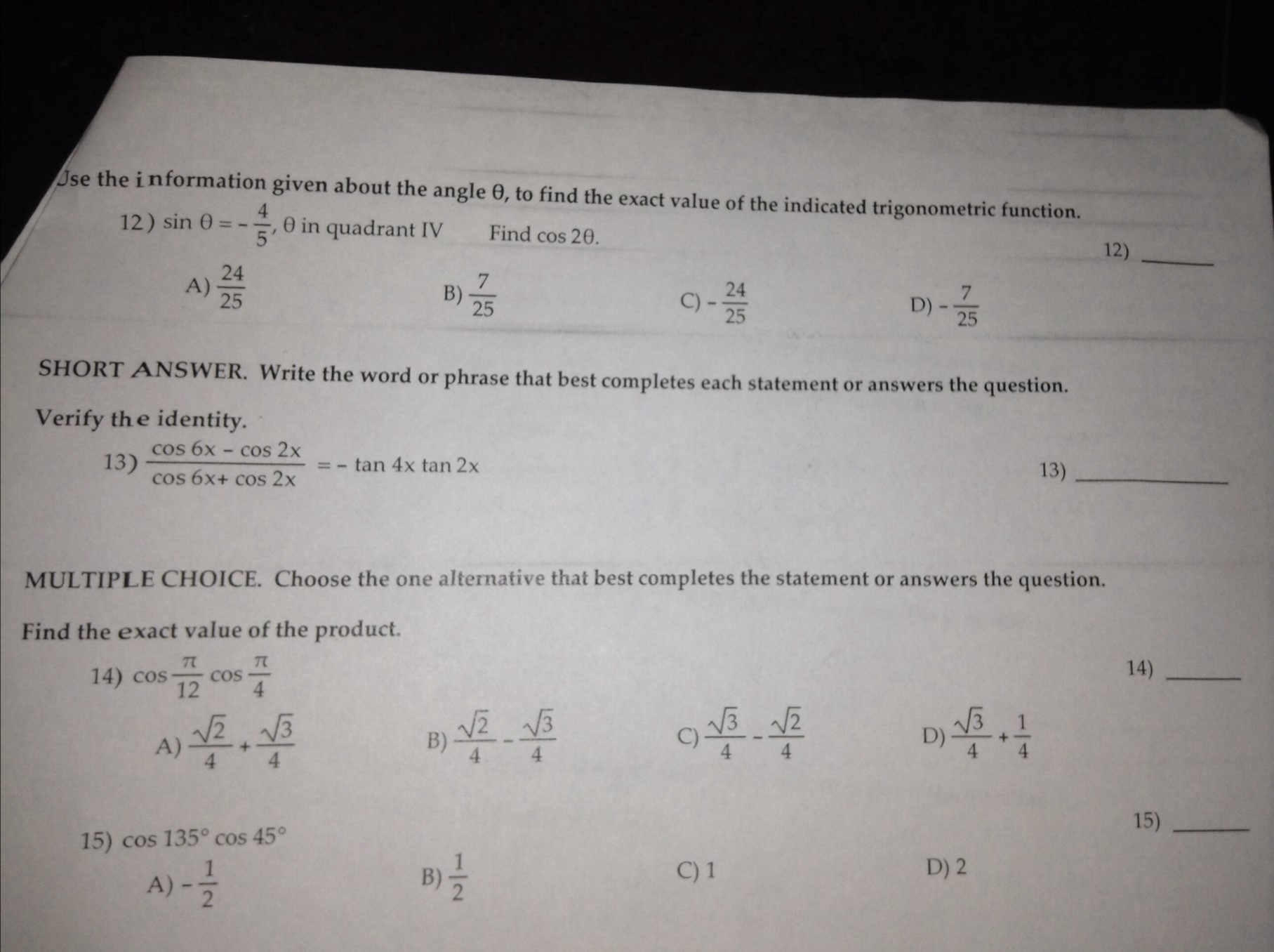 pre calc homework help We assist to solve one of your calculus homework help questions free of  and  good calculus homework help or pre calculus homework help websites you.