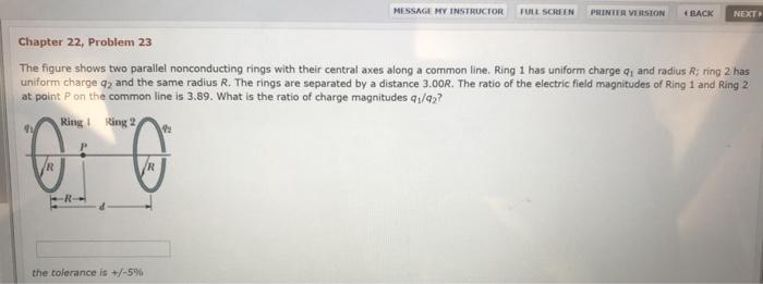 A Thin Nonconducting Ring That Has A Radius