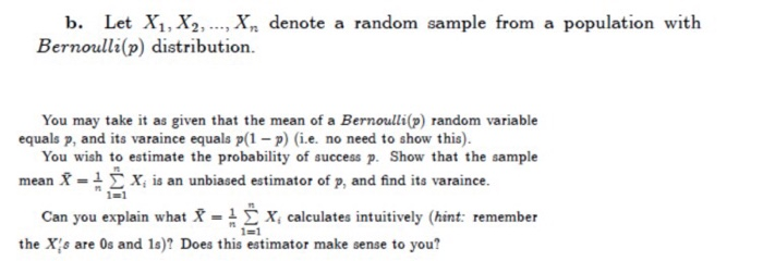 bernoulli distribution questions and answers pdf